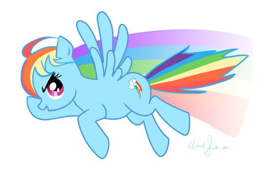 Rainbow Dash Charm by Annie-sama