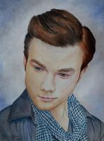 Chris Colfer - watercolor by Giselle-M