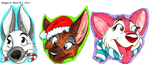 Holiday Badges by Stray-Sketches