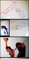 Aladdin Hand Painted Cel Making Of by Nippy13