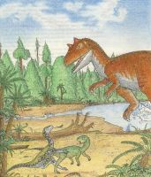 DT 14 - Attack of the awesome Allosaurus by alexine-pankhurst