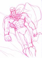 redesigned superman sketch by AlexDeB