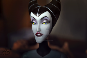 Disney Maleficent repaint by theugliestwife