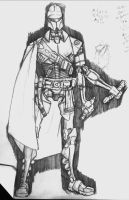 Yet Another Grevous sketch bw by mjt423