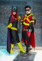 Batgirl and Red Robin New 52 by lordwosh