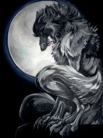 Howls at the Moon - Commission by m1dn1ght-d3m0n