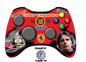 Gilles Villeneuve themed controller by chrisfurguson