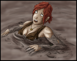 New Jungle Girl In Quicksand by Pentahelix