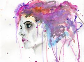 Watercolor woman by cnigrelli185