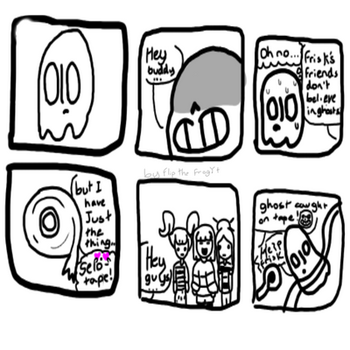 Ghost caught on tape(UT comic) by FlipTheFrogYT