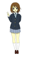K-On Hirasawa Yui PNG by PowerBerry10