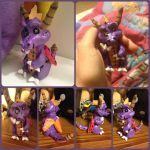 ( Spyro the Dragon ) Spyro Plush Doll Sculpture by KrazyKari