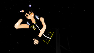 MMD_Black Cat by KuraiLilia1998