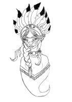 Native Girl by Red-Zephyr