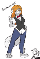 Bow Ties Are Cool! - Doodle by strawberryneko33