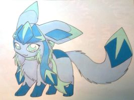 Frost - my Glaceon form by FlareAKACuteFlareon