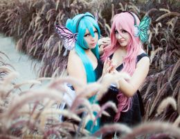 miku and luka magnet cosplay by yuki-sparda