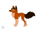 Wolf Coloured (Semi Transparent Lines) by Elana-Louise
