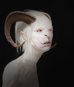 albino demon by DavidSequeira