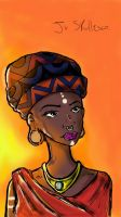 African Model - The beauty of body modification by jrskullesco