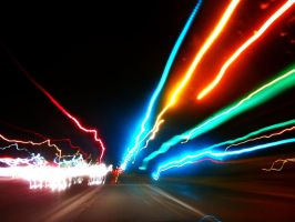 Streaking Through the Colors of My Night by Delta406