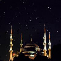 The Blue Mosque at night by dozzyExplorer