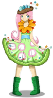 Fluttershy: Awful Dress by Whentheskyfalls