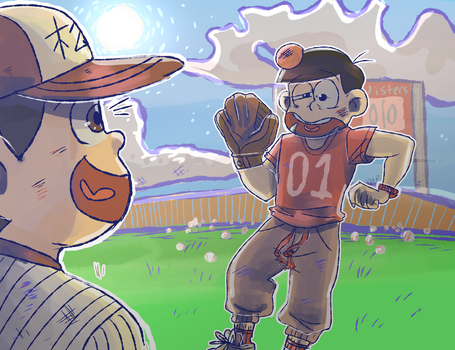 Don't Try to Catch Jyushimatsu's Homerun by Quite-Lovely-Puzzles