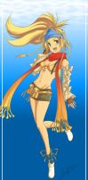 Swimming Rikku XD by SailorSedna