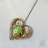 necklace Heart of Indian by NADYjewel