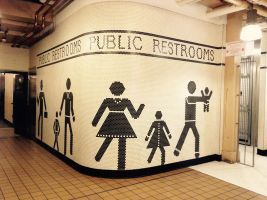 Restroom sign  by Corperal-Hiroro