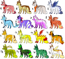 CLOSED - Canines Adoptables 100 by LeaAdoptables