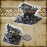 Bat Potion Cauldron by grimdeva