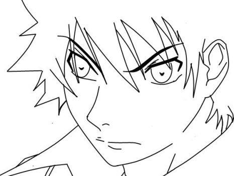 Ikki from Air Gear_Lineart by AnimeFreak32