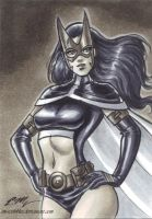 Huntress Sketch Card by em-scribbles