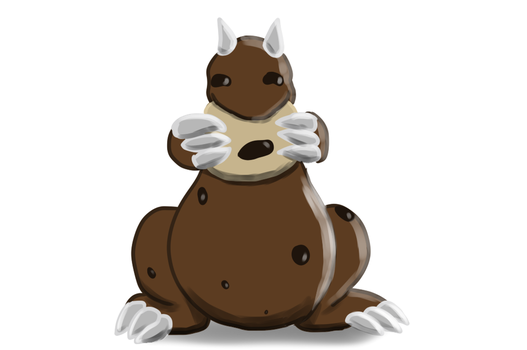 Karchi The Chocolate Dragon by Deliveredmean42