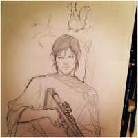Daryl Dixon - The Walking Dead season 4 by TOMATOZOMBIE