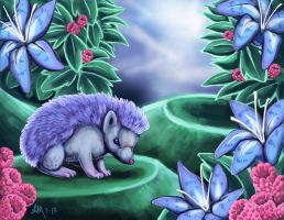 Hedgehog Garden by Blairaptor