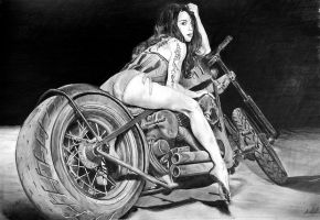 RAT BIKE GIRL by Speed Drawing Italia by Speeddrawingitalia