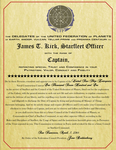 Captain James T. Kirk Appointment Letter by viperaviator