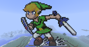 MInecraft Pixel Link Slide by Leapoffaith4
