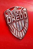 Dredd logo combined with 3D textures by SimDoug