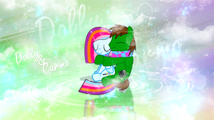 Dolly And Carmo Hugging Wallpaper Request by MLArtSpecter