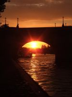 Sunset in Paris by Schlunfs