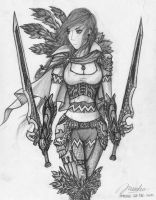 Female Blademaster by AdventDeo
