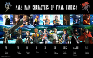 Male Main Characters Of Final Fantasy by DavienValentine