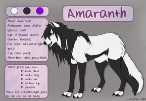 Amaranth reference sheet by LuckyPaw