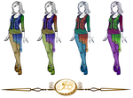 Outfit Design : Medieval Casual Colored Version by JessyB-Design