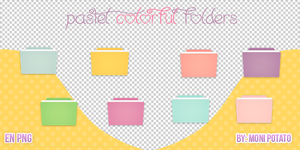Pastel colorful folders by MoniPotato