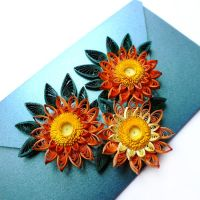 quilling envelope Summer by othewhitewizard